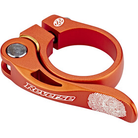 Reverse Long Life Saddle Clamp 34,9mm orange